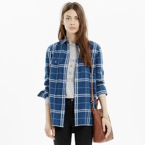 Madewell Flannel Ex-Boyfriend Button-Down Shirt